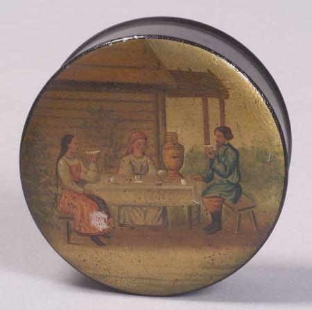 Russian Lacquer Tobacco Box