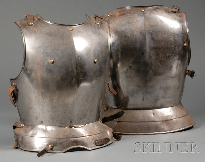 Cromwellian-style Cuirassier's Steel Breast and Back Plate