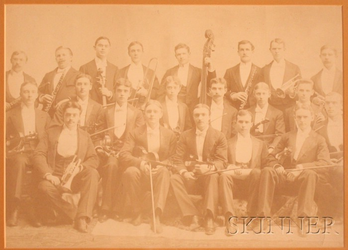 Framed Print of a Chamber Orchestra, c. 1890