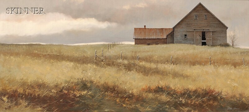 A. Hale Johnson (American, 20th/21st Century)      Gray Barn in Fall