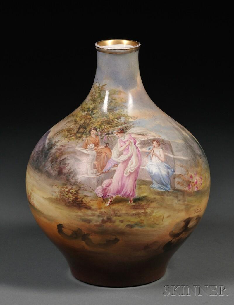 Hand-painted Royal Bonn Vase