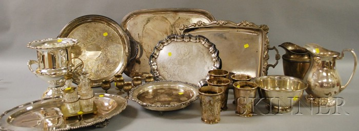 Twenty-three Sterling and Silver-plated Table Items