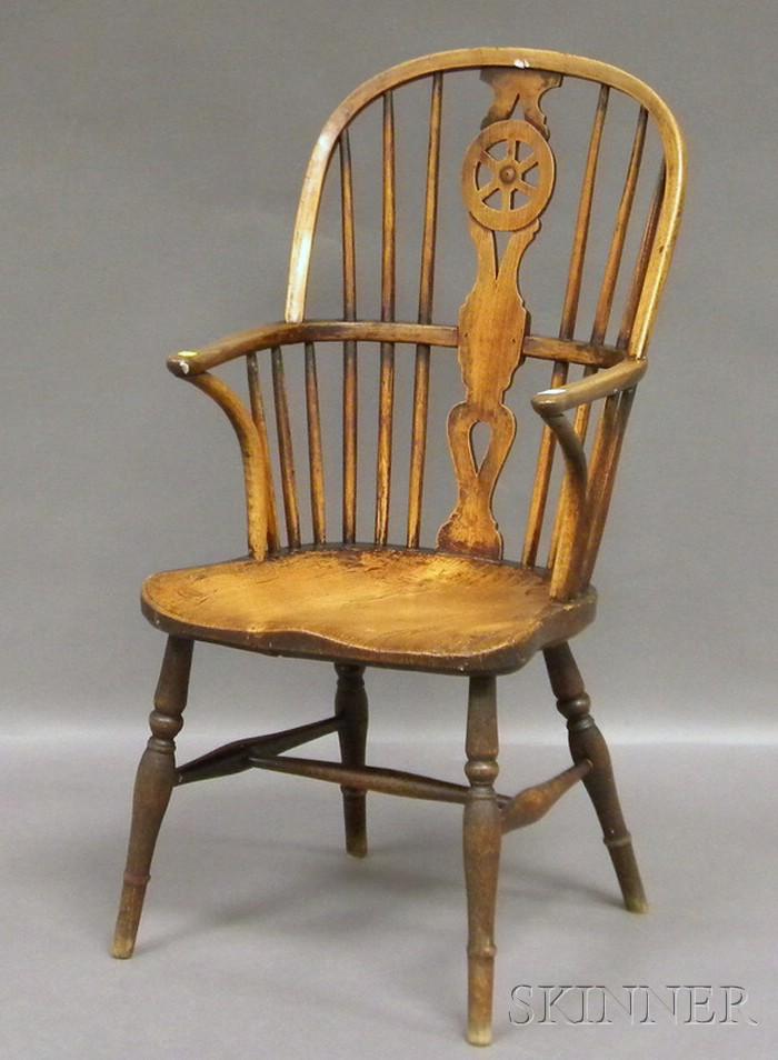 English Windsor Elmwood Armchair.