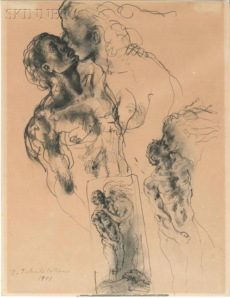 Pavel Tchelitchew (Russian/American, 1898-1957)      The Kiss