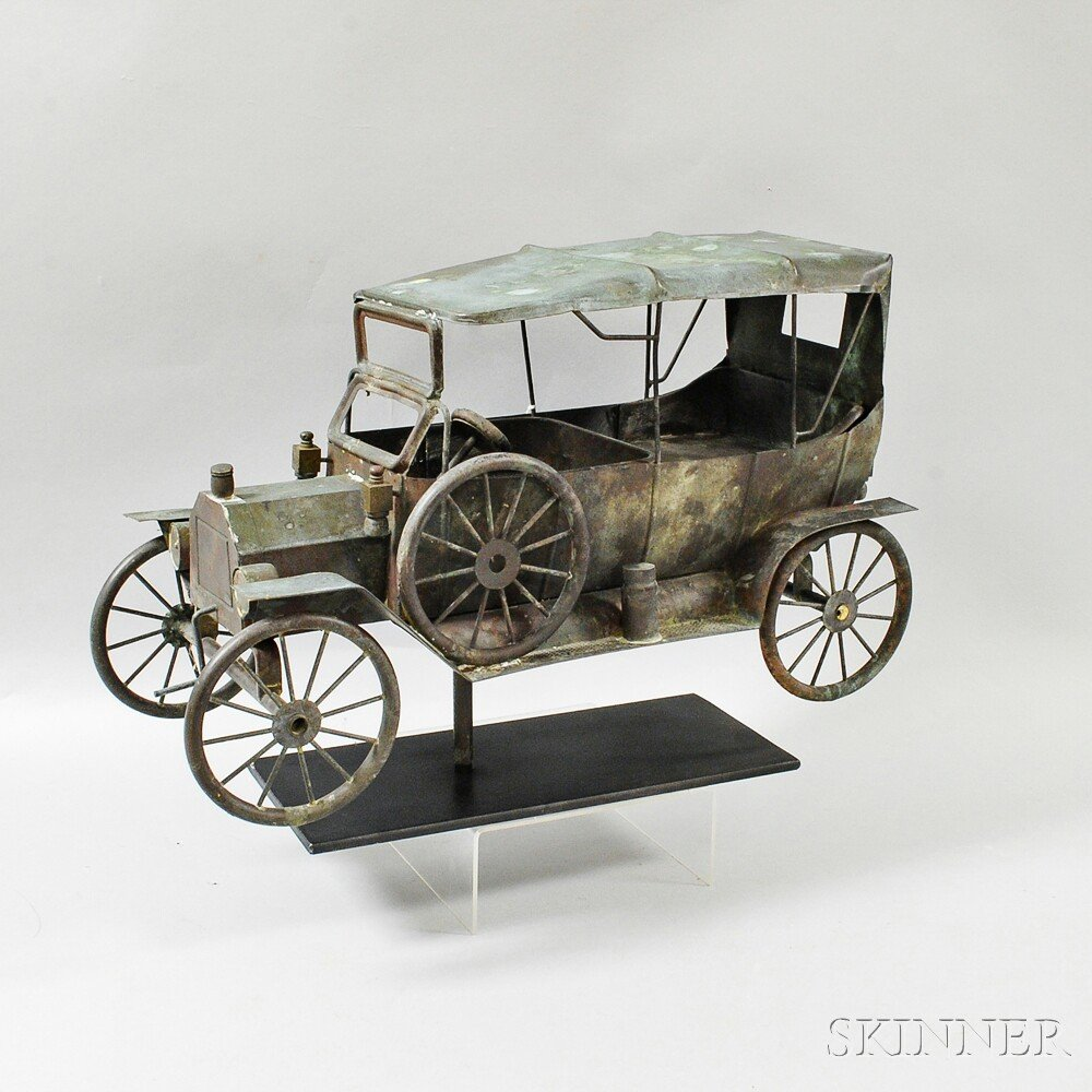 Molded Copper Automobile Weathervane
