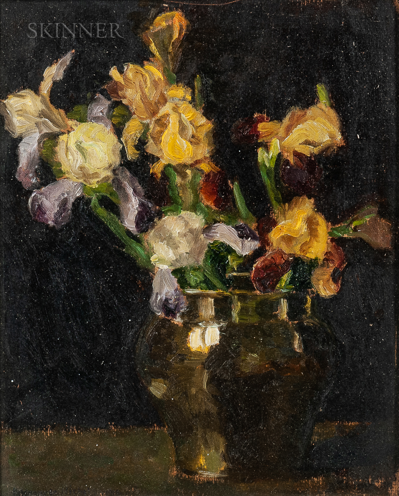 Hildgarde Nichols (American, 20th Century)      Vase of Irises