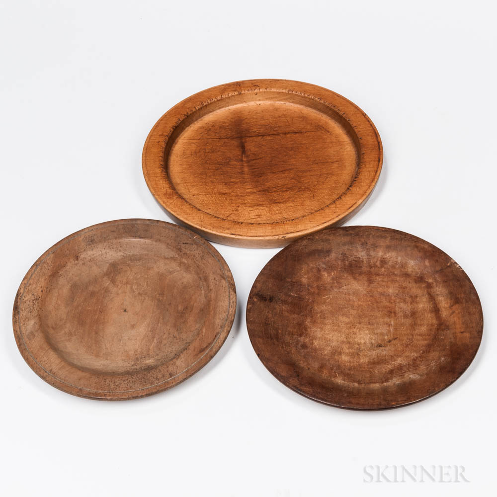 Three Treen Plates