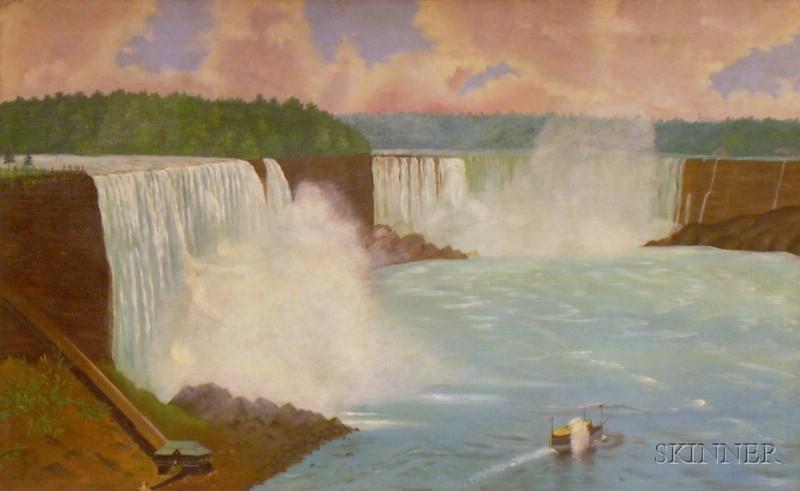 American School, 19th Century      Niagara Falls.