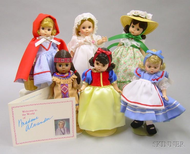 Six Modern Boxed Madame Alexanderkin Dolls