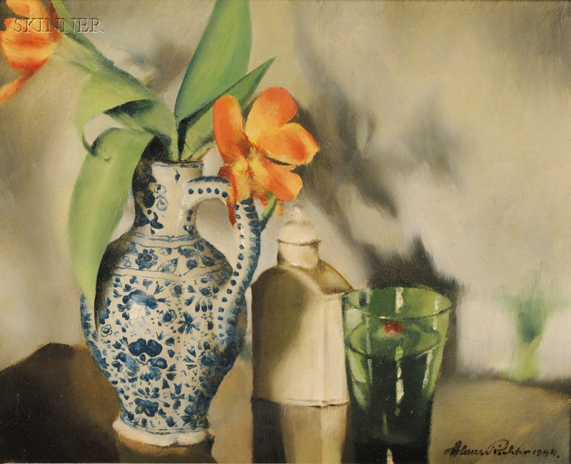 Continental School, 20th Century      Still Life with Flowers in a Vase