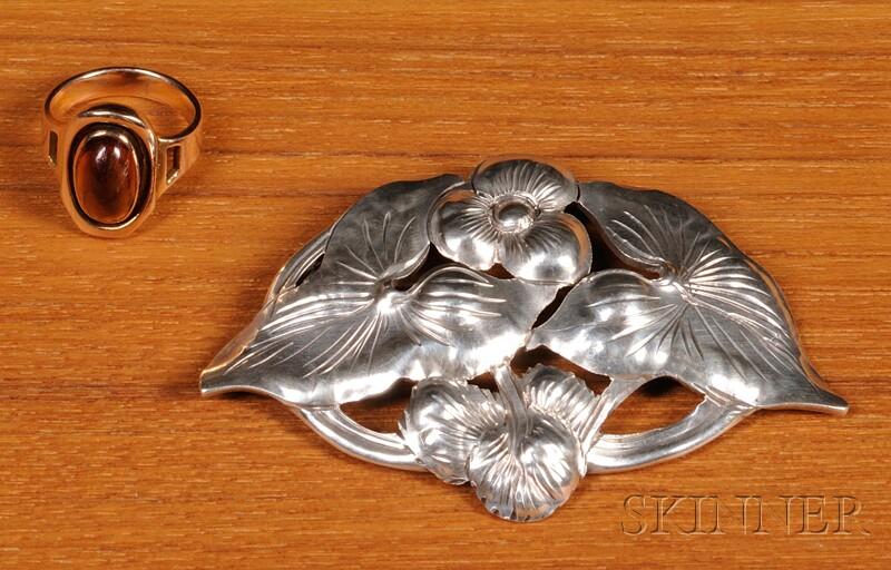 Kalo Gold Ring and Silver Pin