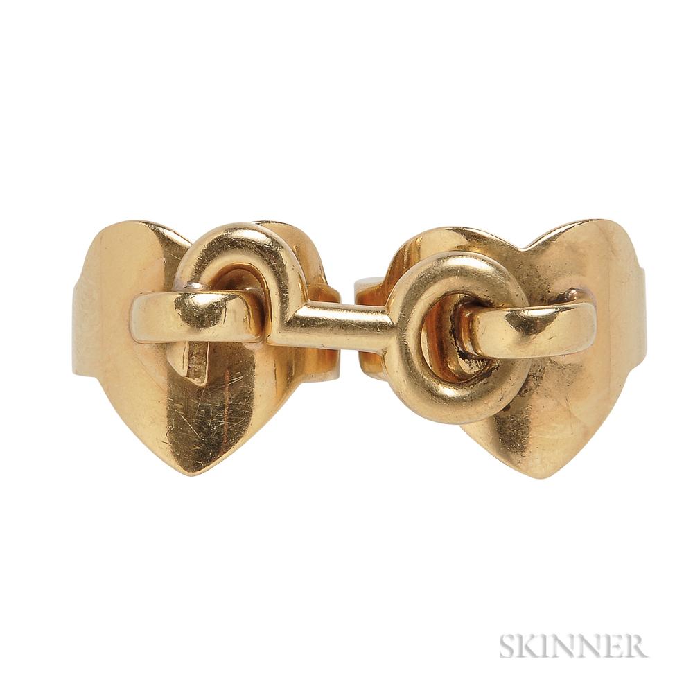 18kt Gold Two-finger Ring, Aldo Cipullo, Cartier