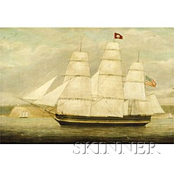 James Fulton Pringle (British, 1789-1847)  The American Ship Hannibal.