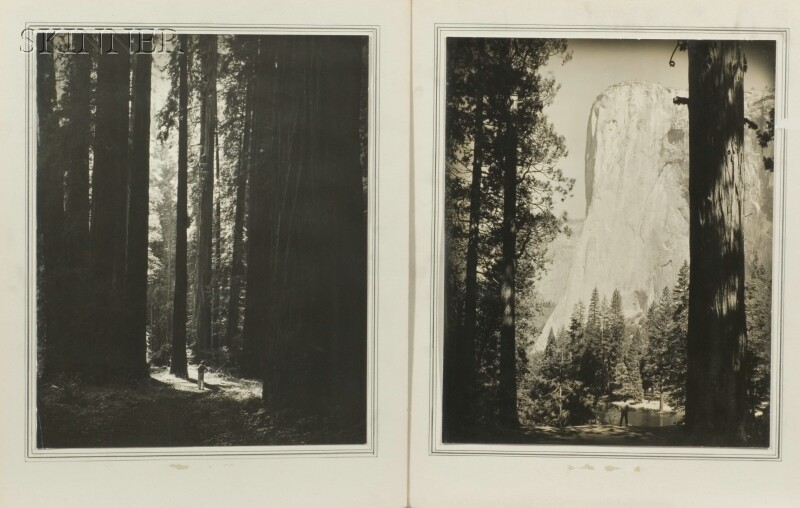 Robert D. Wild (American, 1918-1982)      Two Views of Yosemite Park