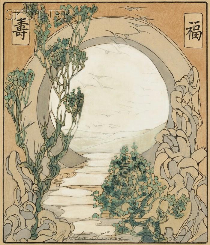Bertha Boynton Lum (American, 1869-1954)      Moon Gate