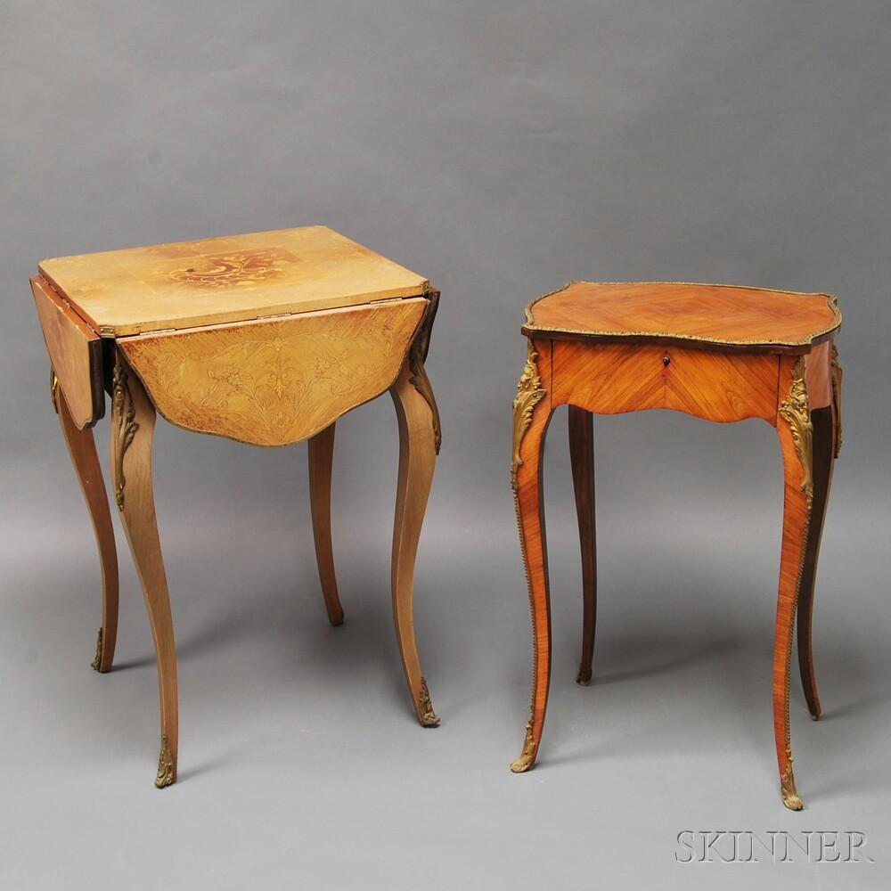 Two Louis XV-style Ormolu-mounted Items