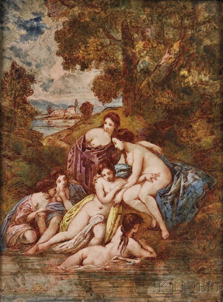 Wedgwood Émile Lessore Decorated Plaque