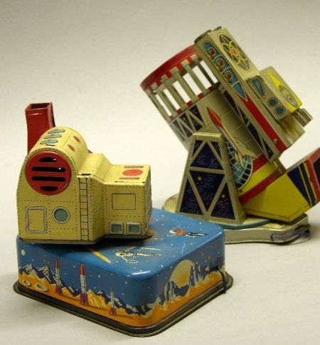 Linemar Lithographed-Tin Space Toys