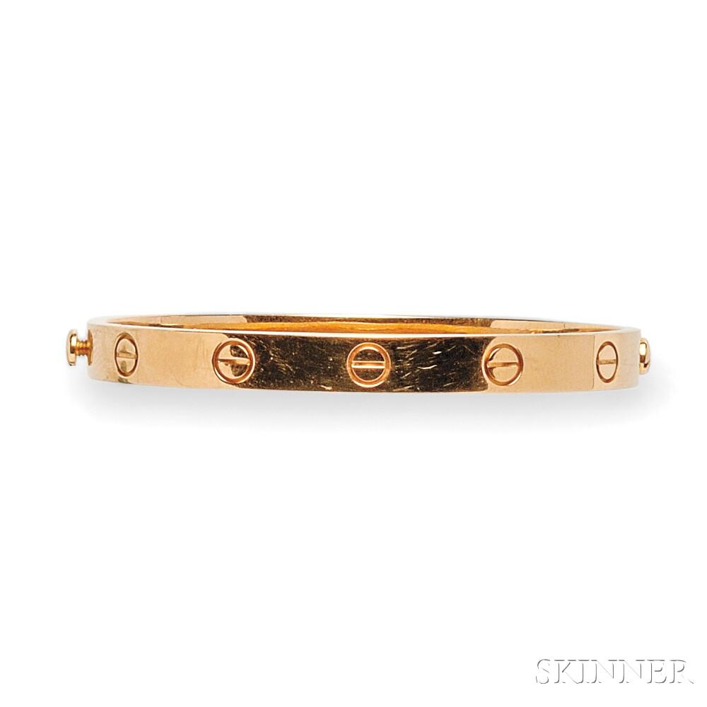 """18kt Rose Gold """"Love"""" Bracelet, Cartier"""