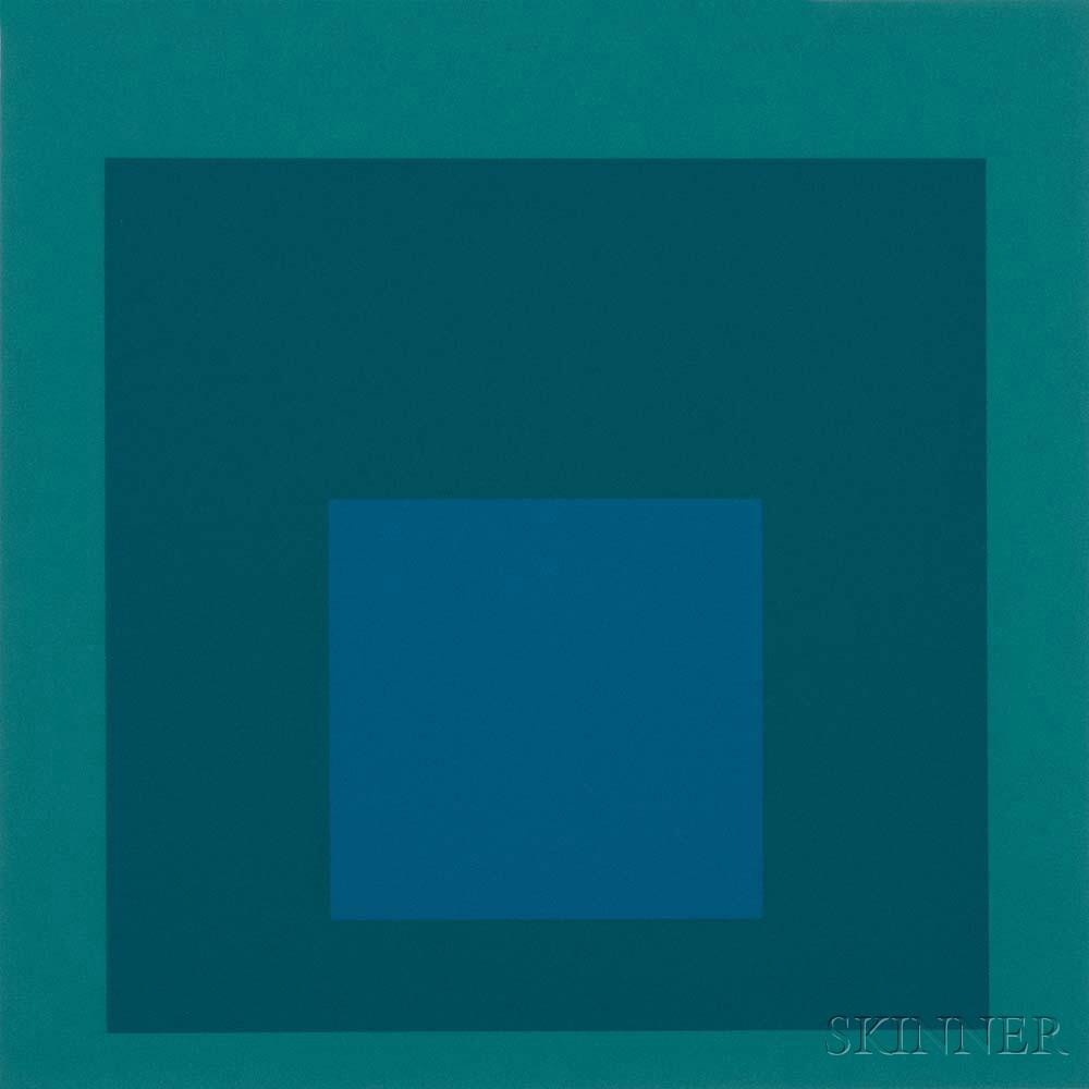 Josef Albers (German/American, 1888-1976)      Blue Reminding