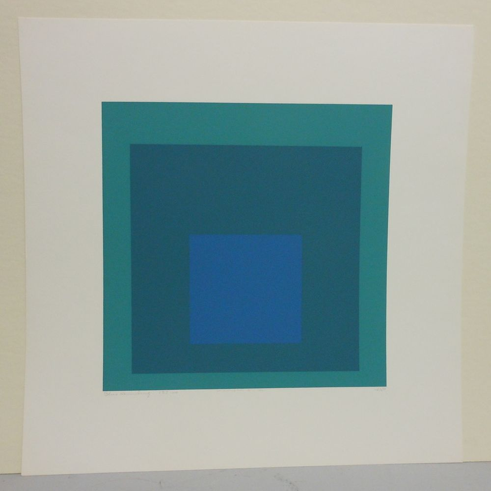 Josef Albers (German/American, 1888-1976)      Blue Reminding