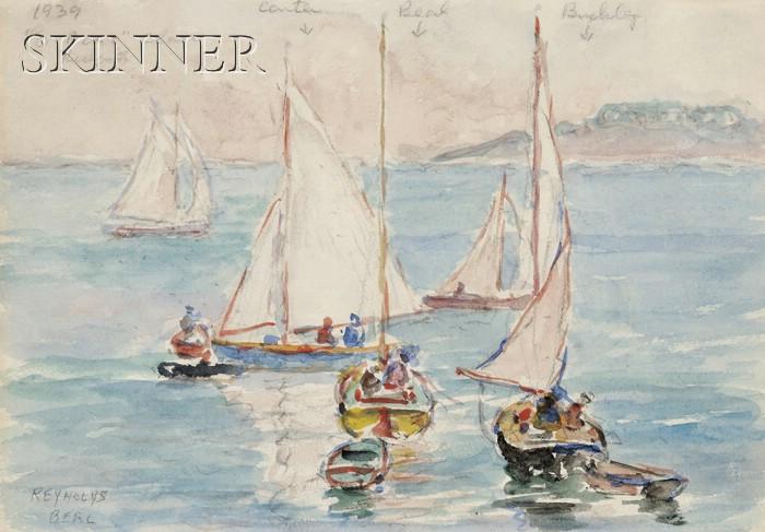 "Reynolds Beal (American, 1867-1951)      ""O"" Boat Class, Rockport"