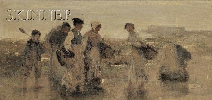 Franco/American School, 19th Century      The Mussel Gatherers