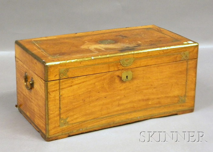Chinese Export Brass-inlaid Camphorwood Trunk