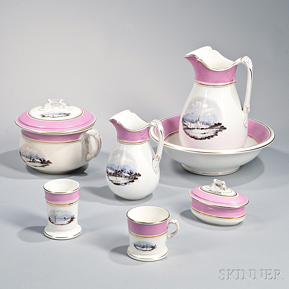 Seven-piece Porcelain Chamber Set