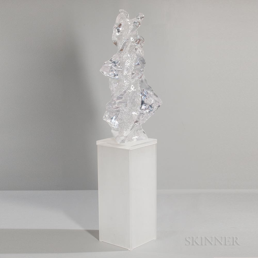Maya and Terry Balle Spiraling Waves   Sculpture
