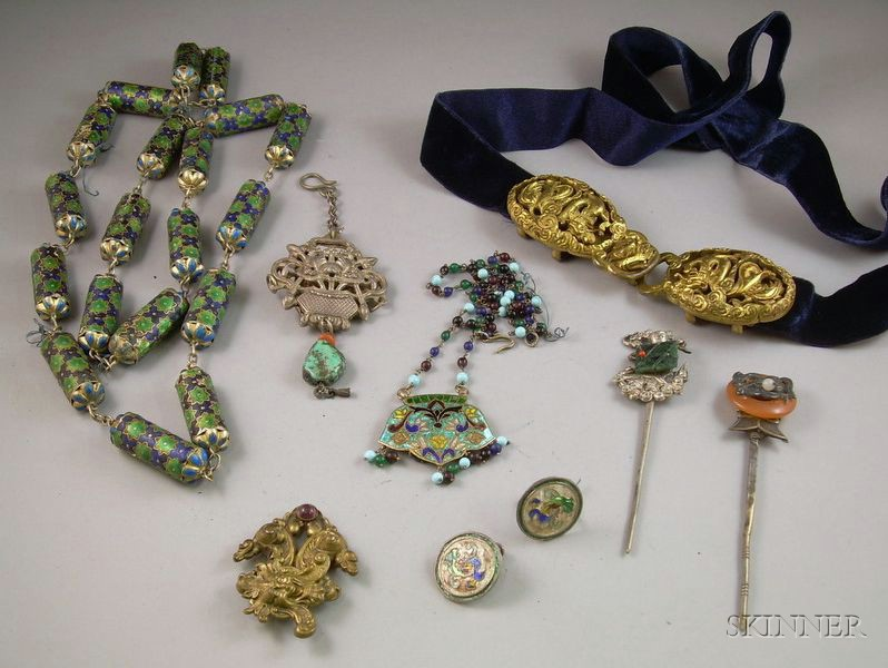 Group of Assorted Asian Jewelry and Accessories