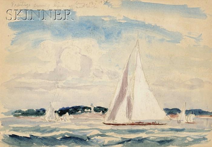 Reynolds Beal (American, 1867-1951)      Prestige Crossing Line-West Chop