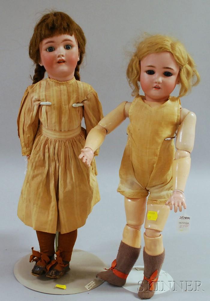 Two Simon and Halbig Bisque Dolls