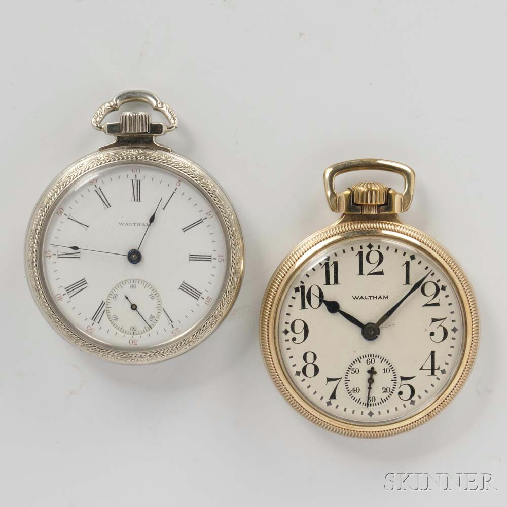 """Two Waltham """"Vanguard"""" Open-face Watches"""