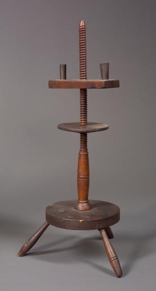 Wooden Adjustable Candlestand.