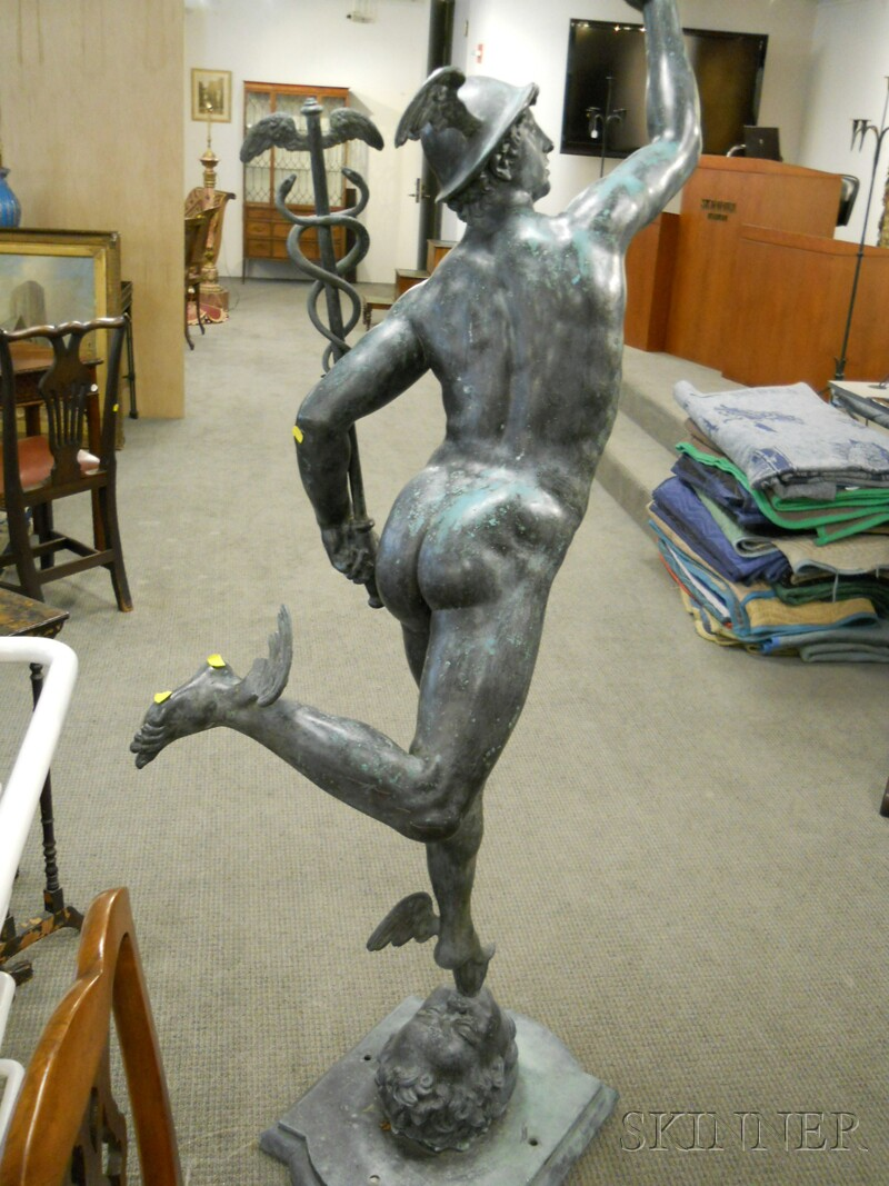 Bronze Sculpture of Mercury After Giambologna