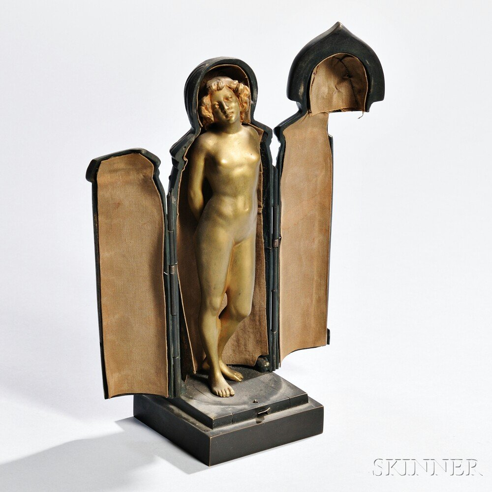 Bergmann-type Cold-painted Bronze Maiden