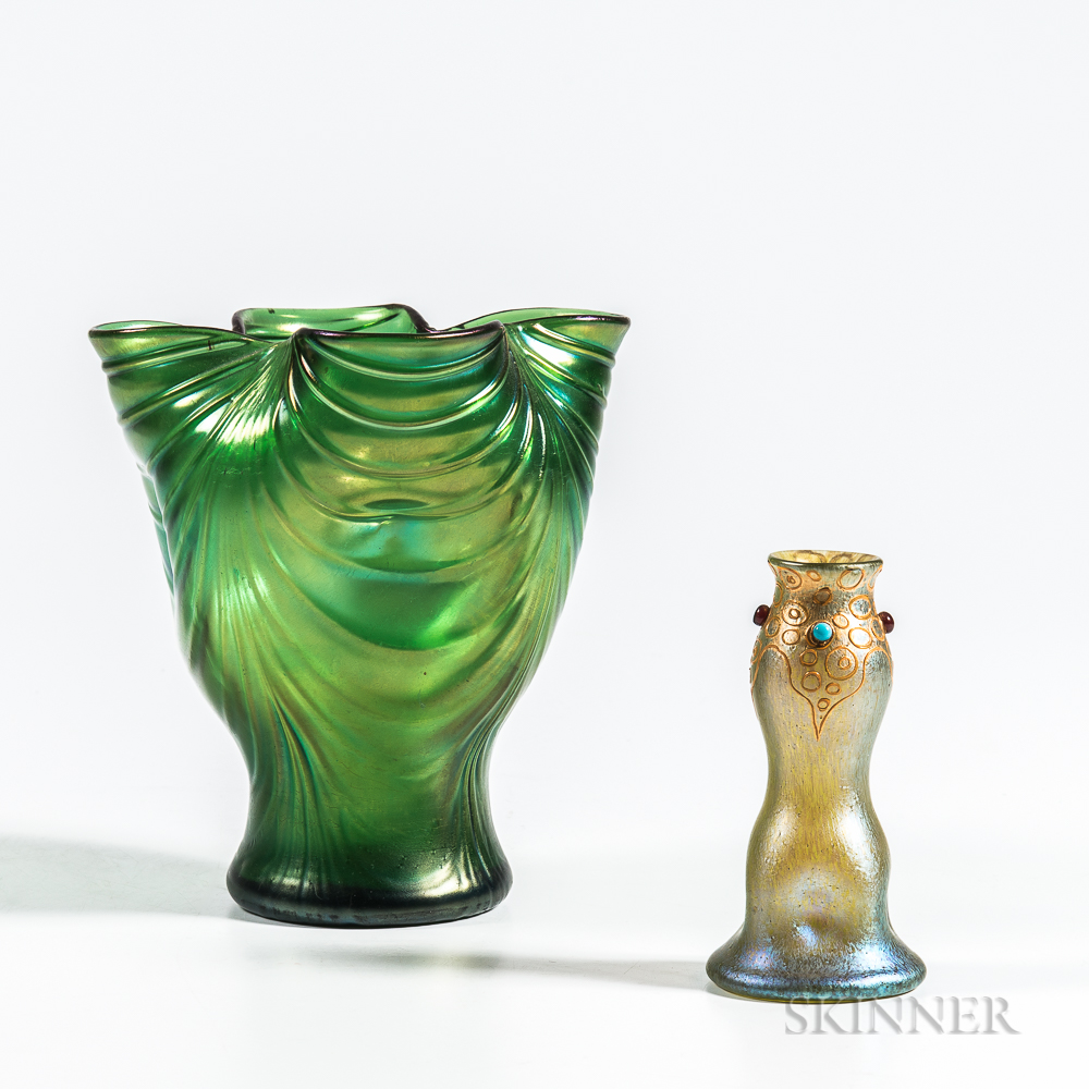 Two Loetz Art Glass Vases