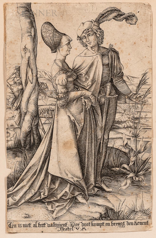 Israhel van Meckenem the Younger (German, c. 1440-1503), After Albrecht Dürer (German, 1471-1528)      The Promenade