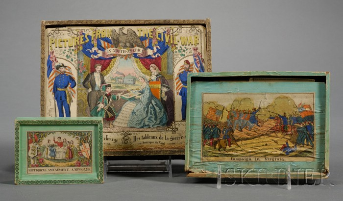 Three Boxed Victorian Games and Puzzles
