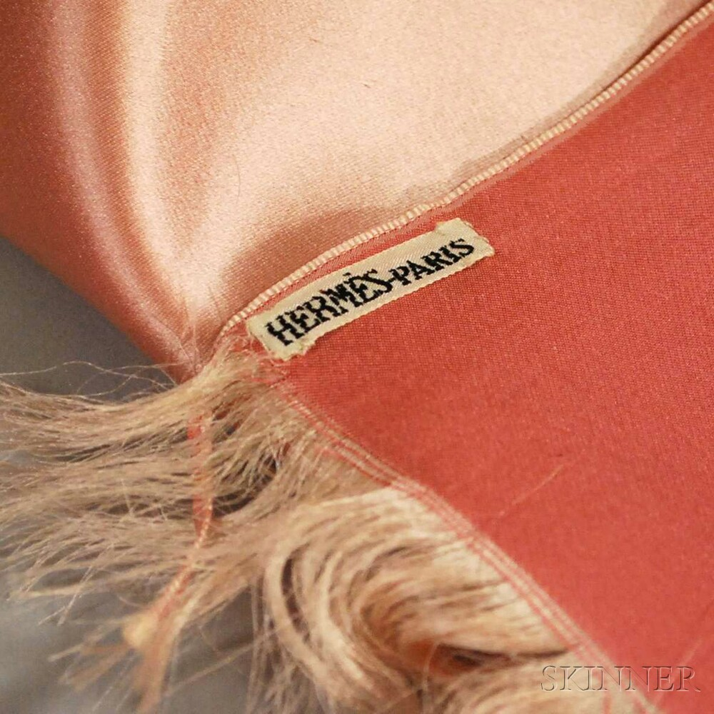 Hermes Rose-colored Ombre Satin Scarf