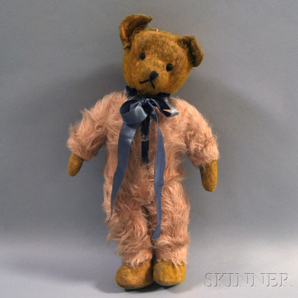 Vintage Steiff-type Golden Mohair Jointed Teddy Bear