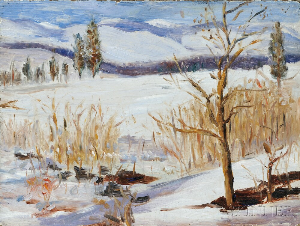 Attributed to Grant Wood (American, 1891-1942) Winter ThawAttributed to...