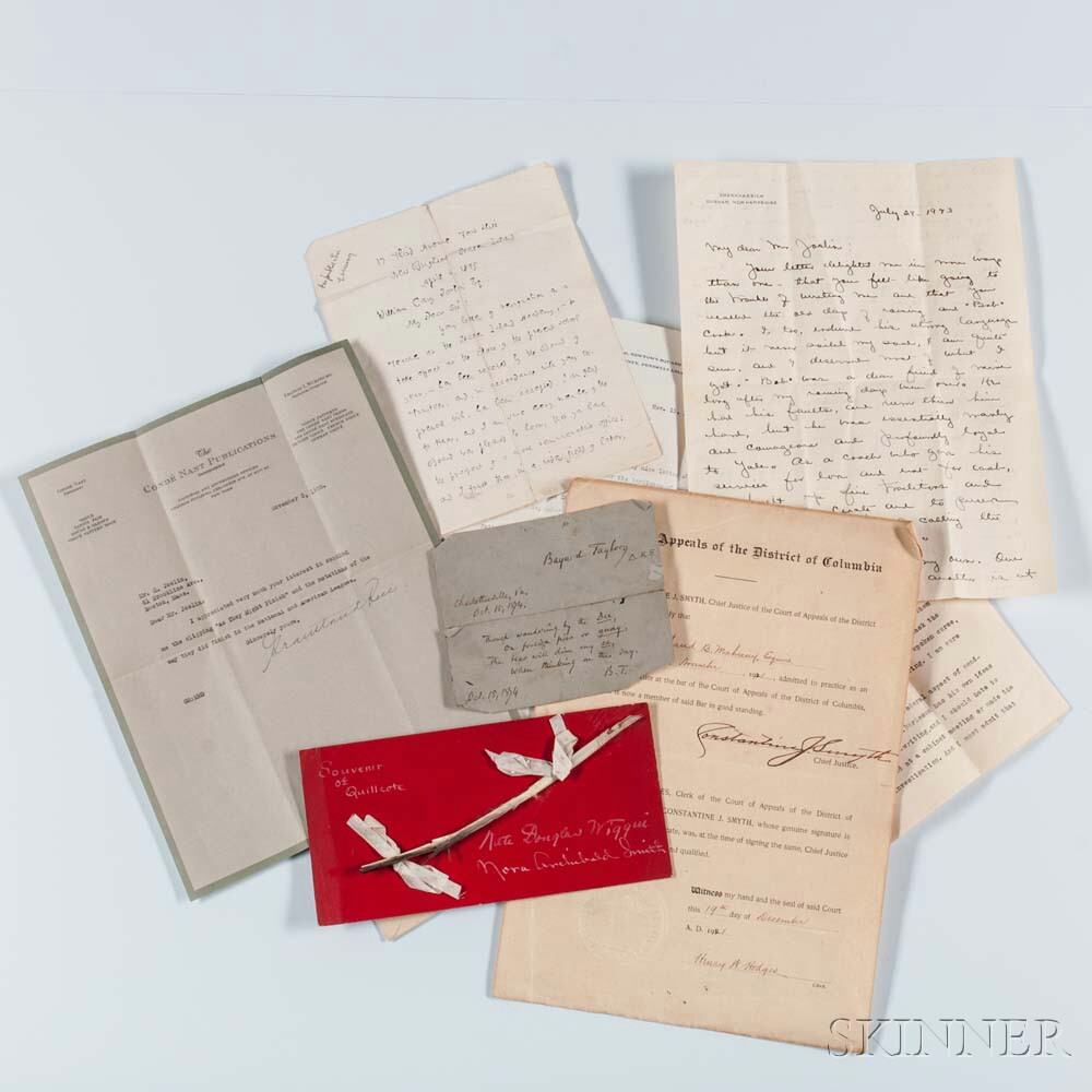 Miscellaneous Group of Signed Documents, Approximately Forty-eight.
