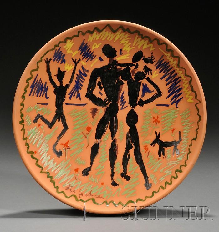 Jean Cocteau Design Pottery Charger