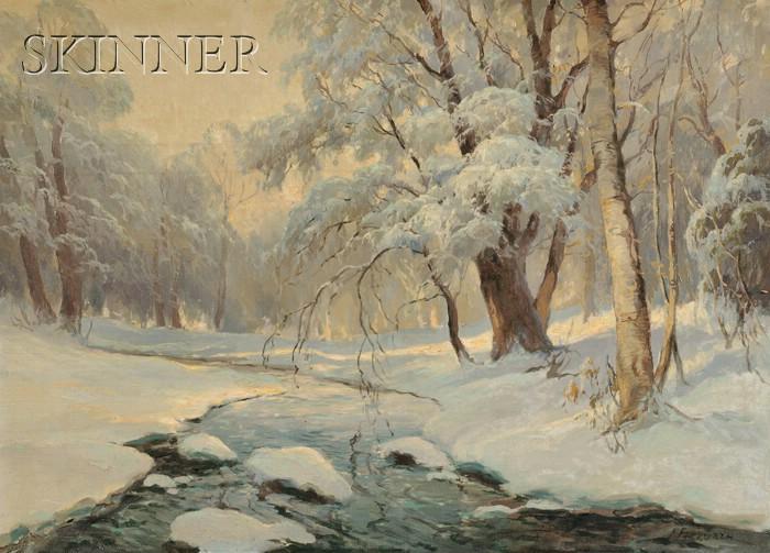 Frank P. Ferruzza  (American, 1912-1984)      Winter Quietude