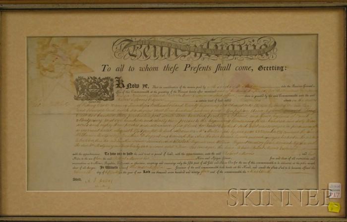 Mifflin, Thomas, 1744-1800, and (Morris, Robert (1734-1806)), Signer from   Pennsylvania