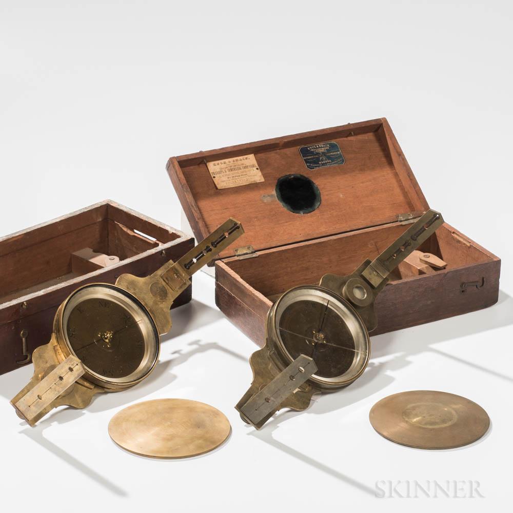 Two Knox & Shain Vernier Compasses