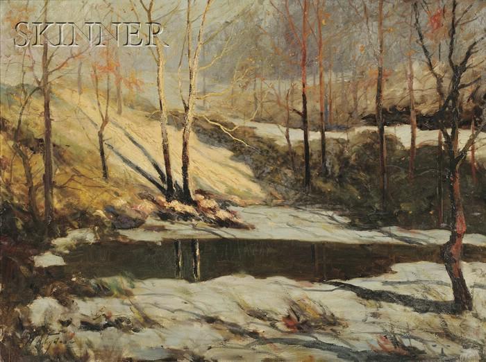 William Arnold Eyden, Jr.  (American, 1893-1982)      The Frozen Stream