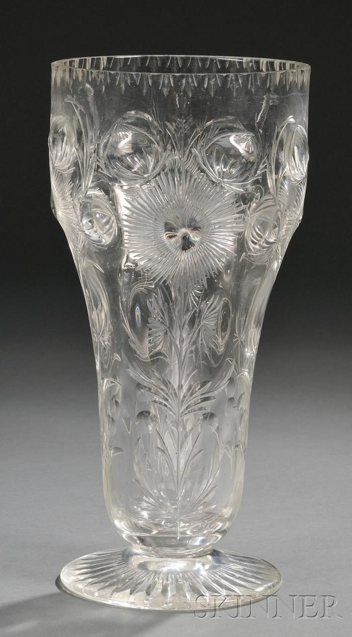 Thomas Webb & Sons Crystal Vase